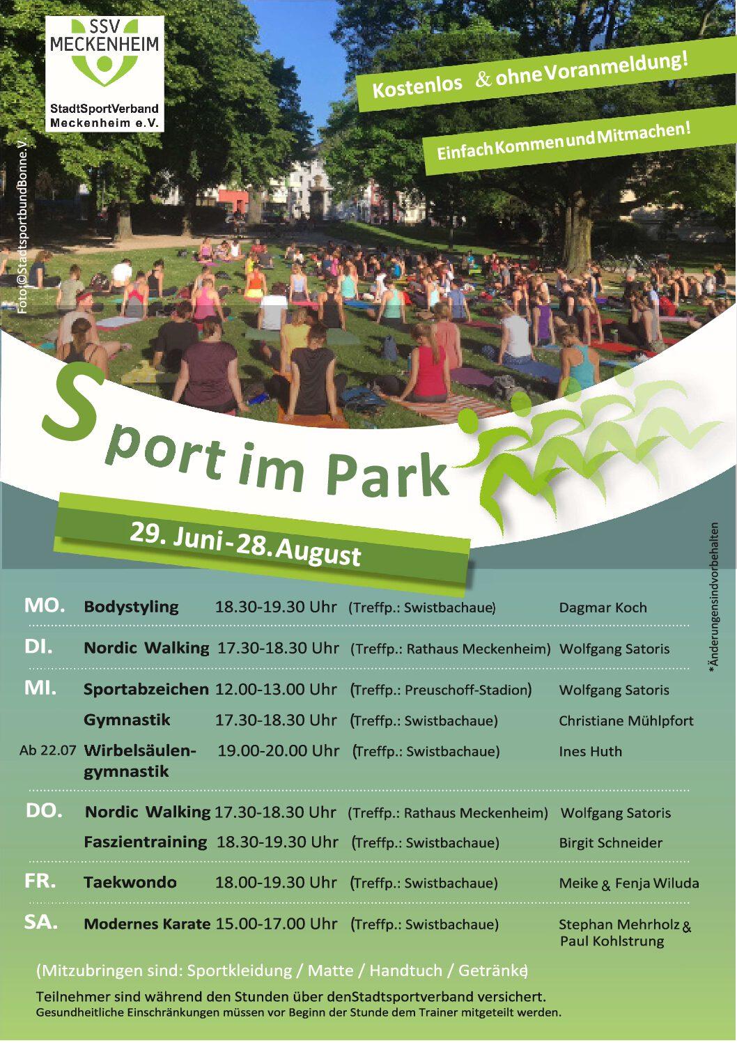 Sport im Park 29.06.-28.08.